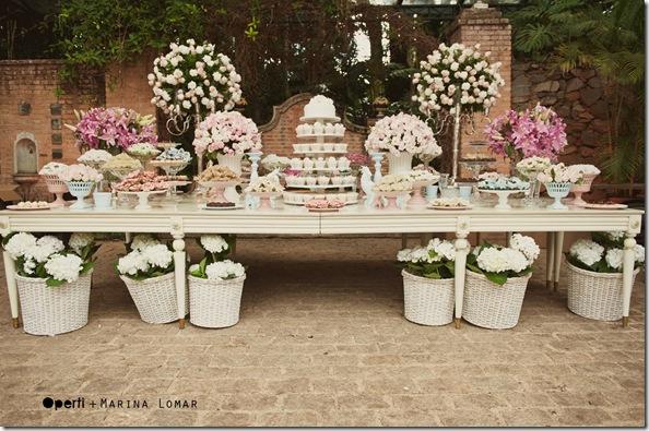 decoracao mesa branca:Provencal Decoracao De Casamento