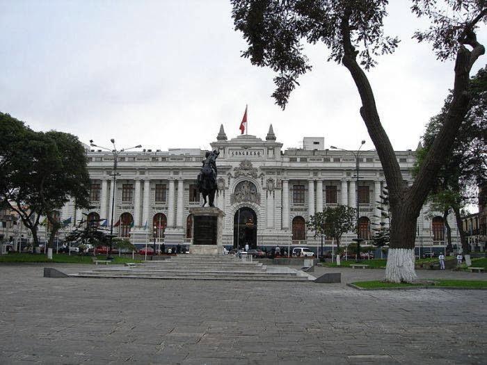 Plaza Bolivar in Lima, Peru