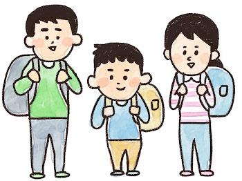 家族旅行のイラスト(長袖)