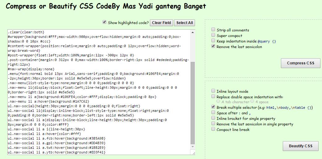 Cara Compress Css Blog Agar Fast Loading dan Lebih Cantik