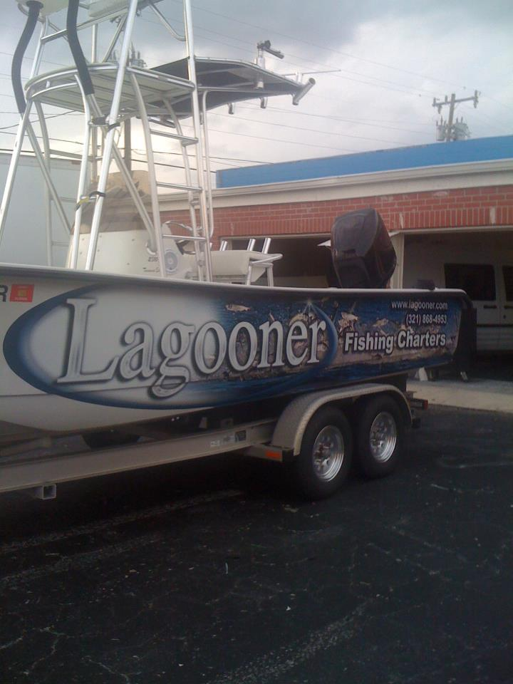 A1a sign wave lagooner fishing charter boat wrap wrap king for Wrap fishing system