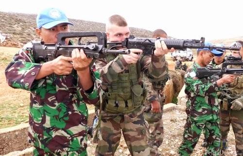 Prajurit TNI dan Tentara Perancis Gelar Latihan Menembak