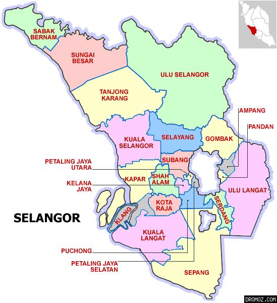 Selangor Selangor Map