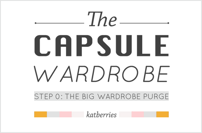 purging my wardrobe before starting a capsule wardrobe