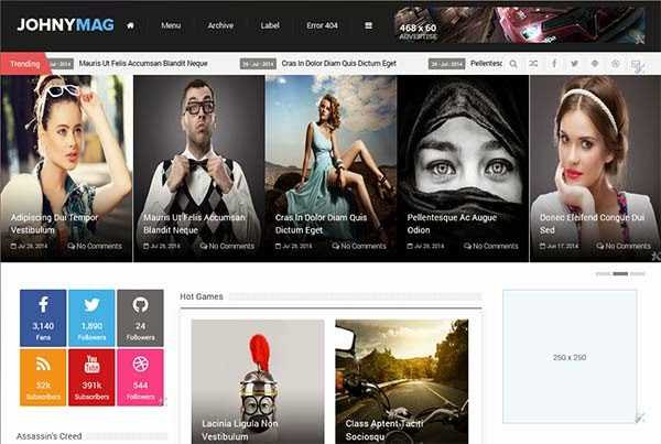 Johny Mag Responsive Blogger Template