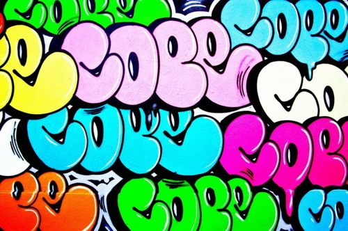 Bubble Style Graffiti Tag Cope2
