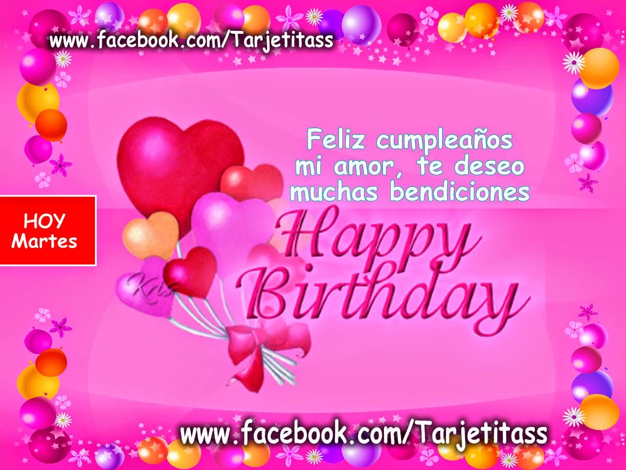 Tarjetas de cumpleaños para un hijo Frases de amor  - Imagenes De Feliz Cumple Años Amor