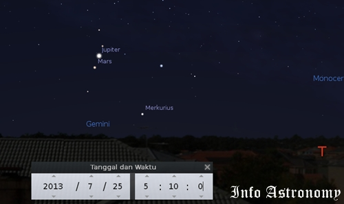 Lihat Merkurius, Mars, dan Jupiter Bersinar Sebelum Fajar