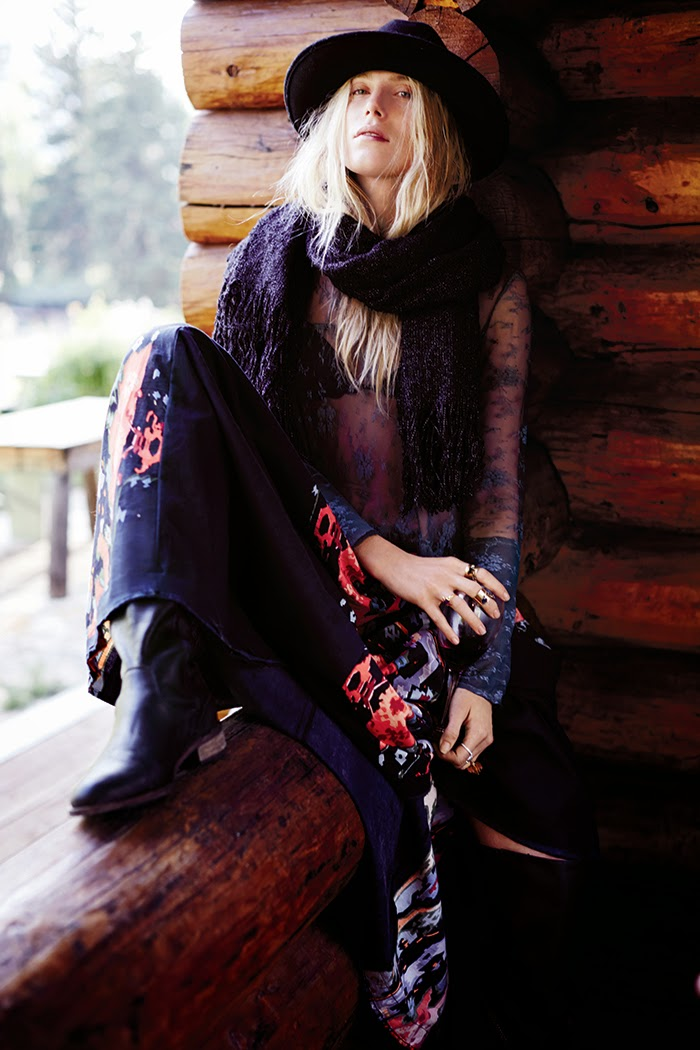Dree Hemingway for Free People‏ Fall/Winter 2014 Collection
