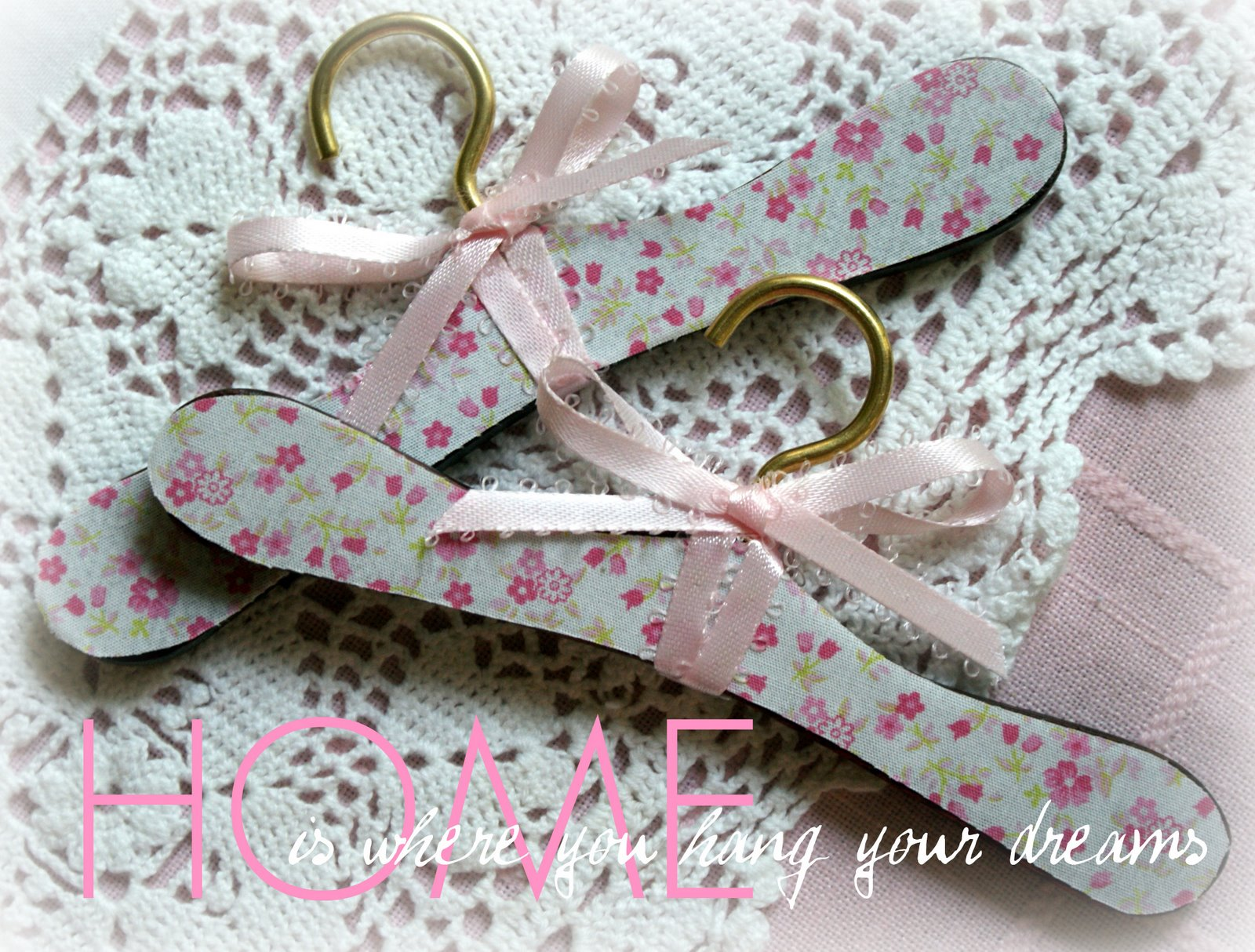 A Little Loveliness: Mother-Daughter-Dolly Tea Doll Hangers