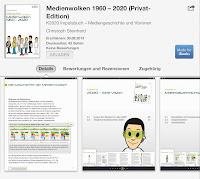 """Screenshot vom K2020 Impulsbuch """"Medienwolken 1960 – 2020"""" im iBookstore"""