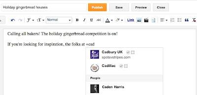 Blogger Sekarang Terintegrasi Dengan Google+ Via Mention