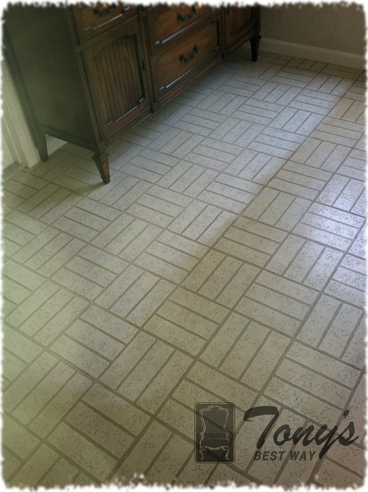 Yearold Vinyl Floor Gets Cleaning Facelift Photos Video - Best product to clean linoleum floors