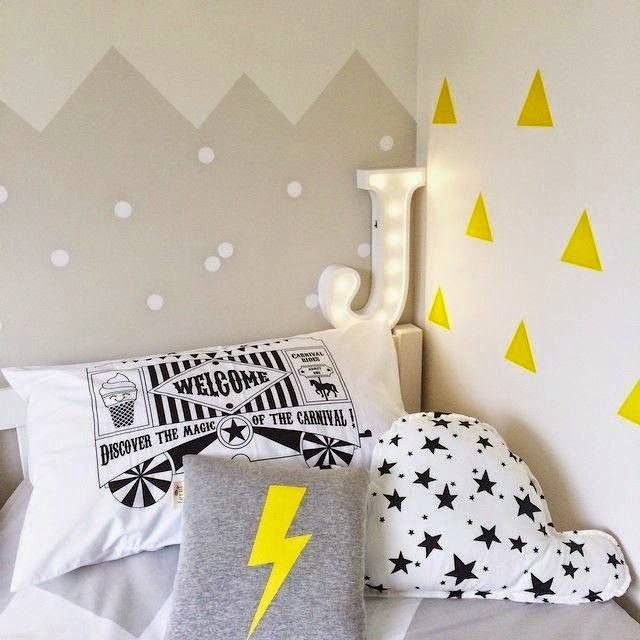 Decoraci n f cil paredes con siluetas de relieve de - Paredes pintadas infantiles ...