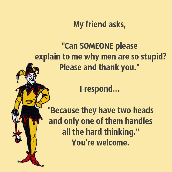 men have two heads