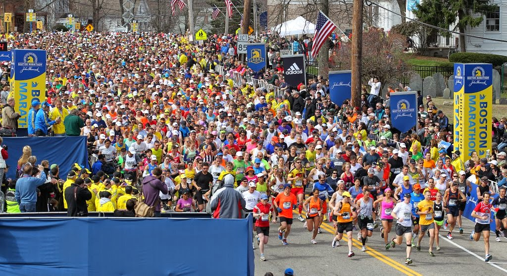 Boston Marathon start line