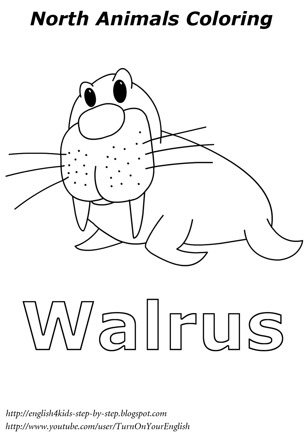 coloring pages of arctic animals - photo#3