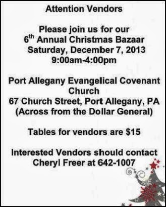 12-7 Christmas Bazaar-Port Allegany