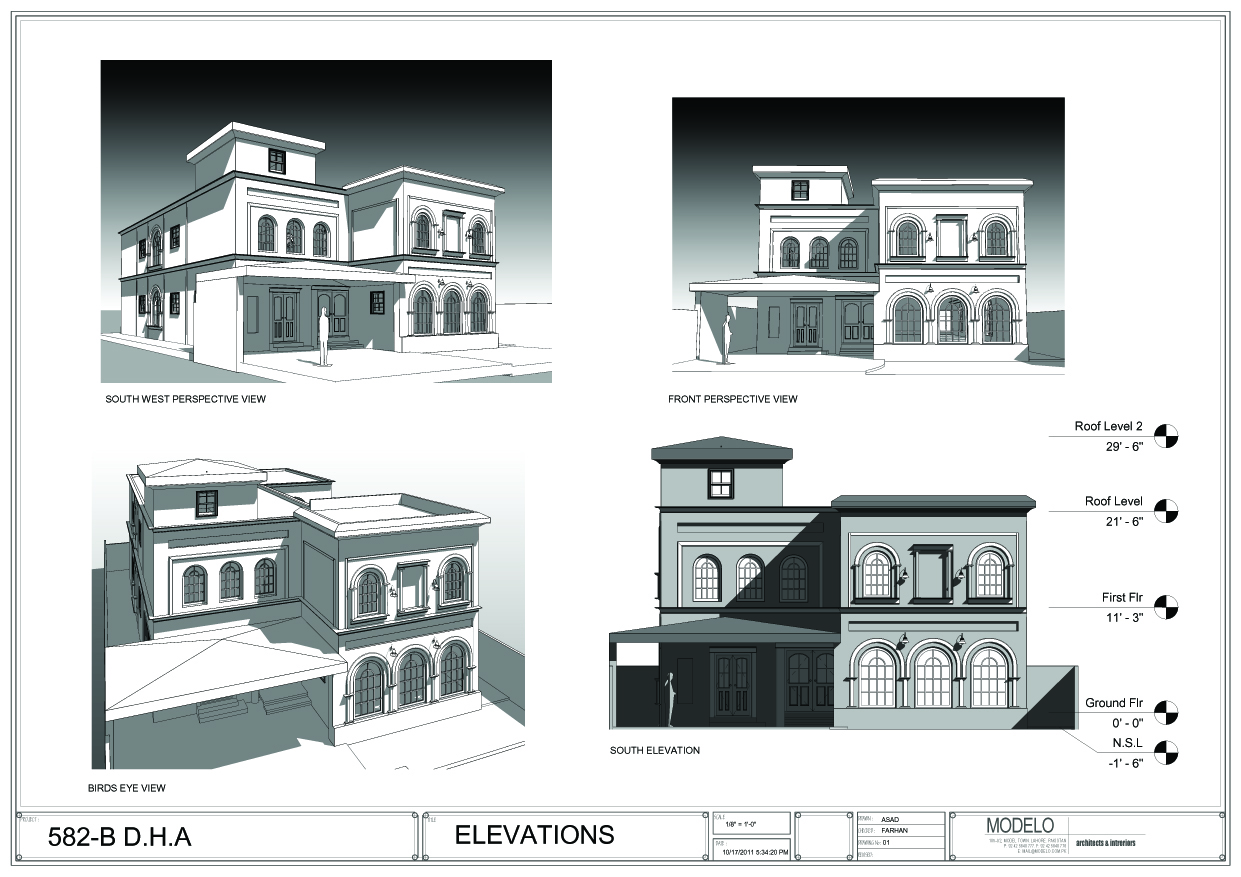 residential buildings planning and elevation design