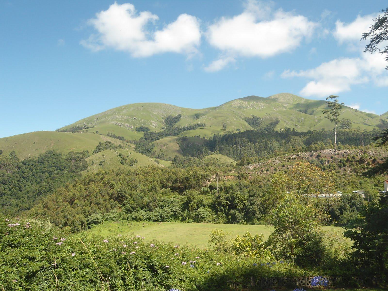 Bela paisagem de montanha.