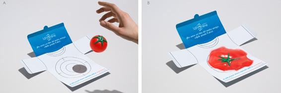 Creative advertising: LavOnline - Tomato Splat