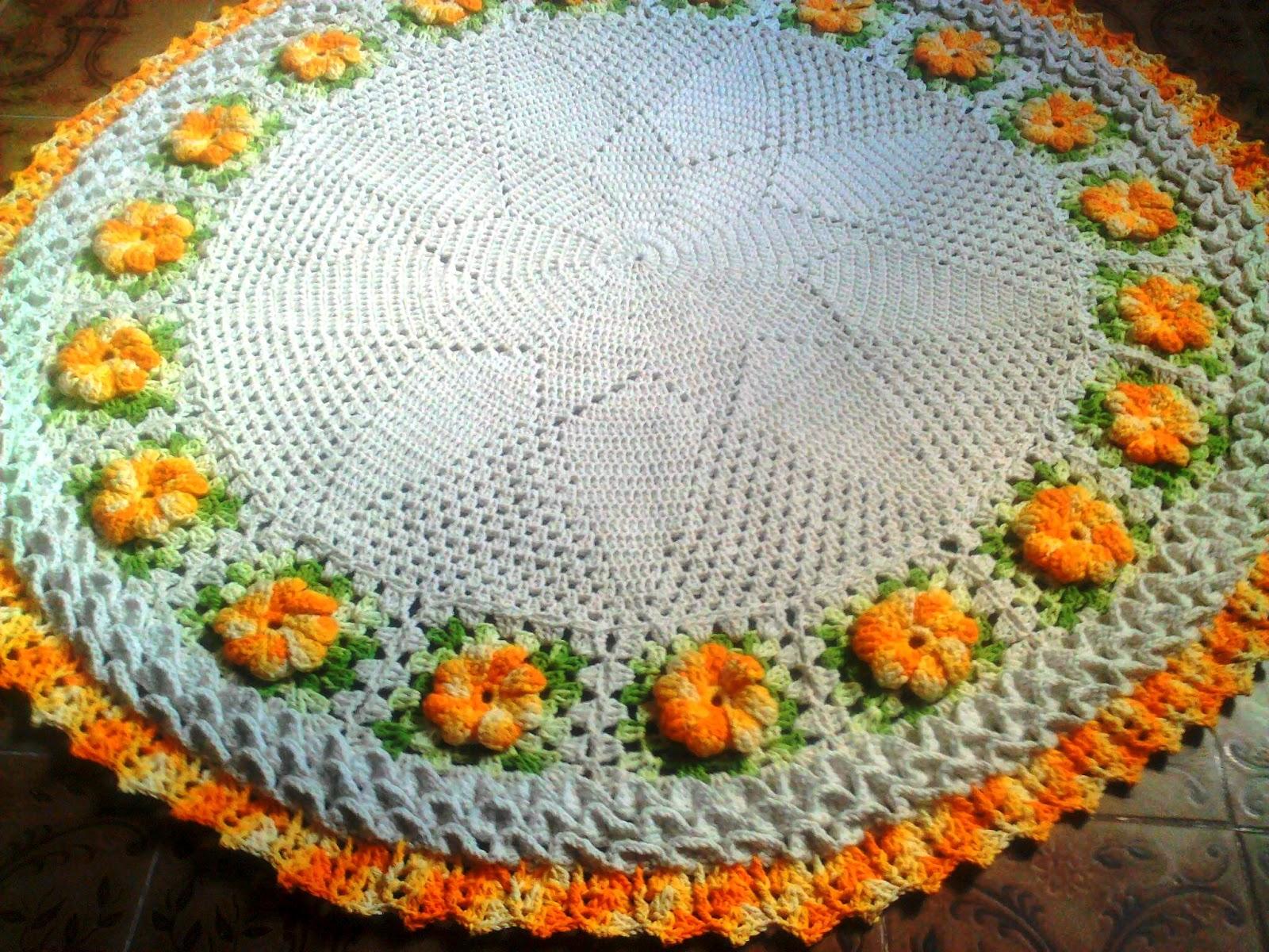 Elizandra Croche: Tapete flores Barroco