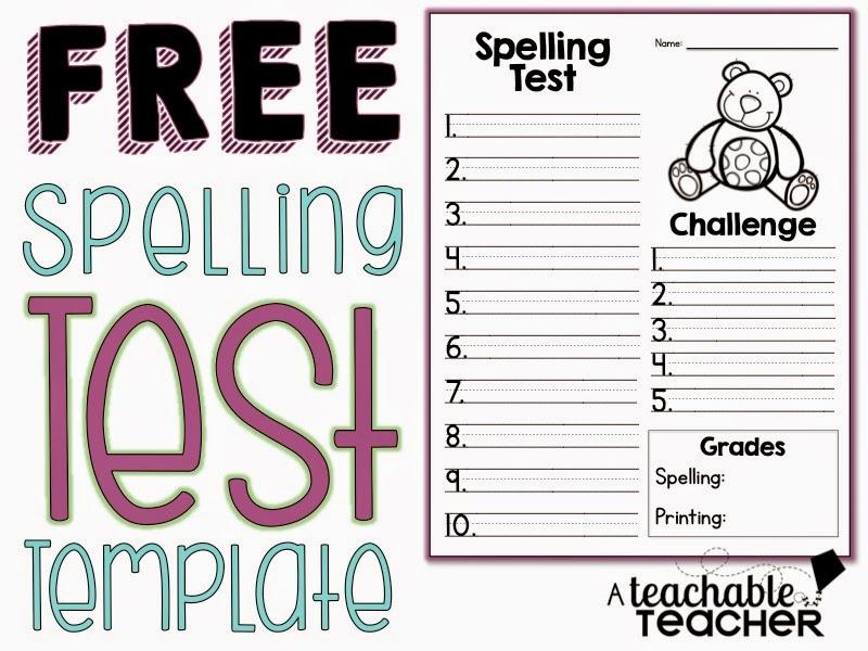 teachable teacher spelling test freebie