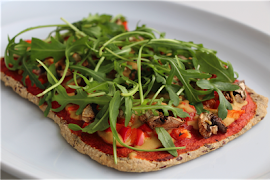 Flaxseed No-Carb Pizza with Chickpea Cheese