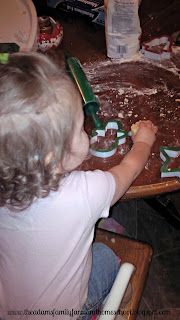 Toddler School - playing with dough