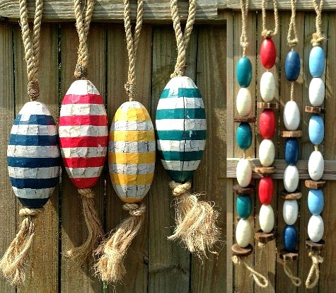 Decorative Painted Replica Buoys