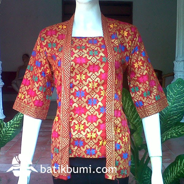 Blouse Kutu Baru Bali Prada DBT 057  jual batik murah Batik