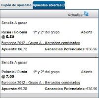 Apuestas Deportivas Rosberg Fútbol – Eurocopa 2012 Rusia Polonia William Hill