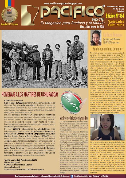 Revista Pacifico Nº 364 Variedades Culturales