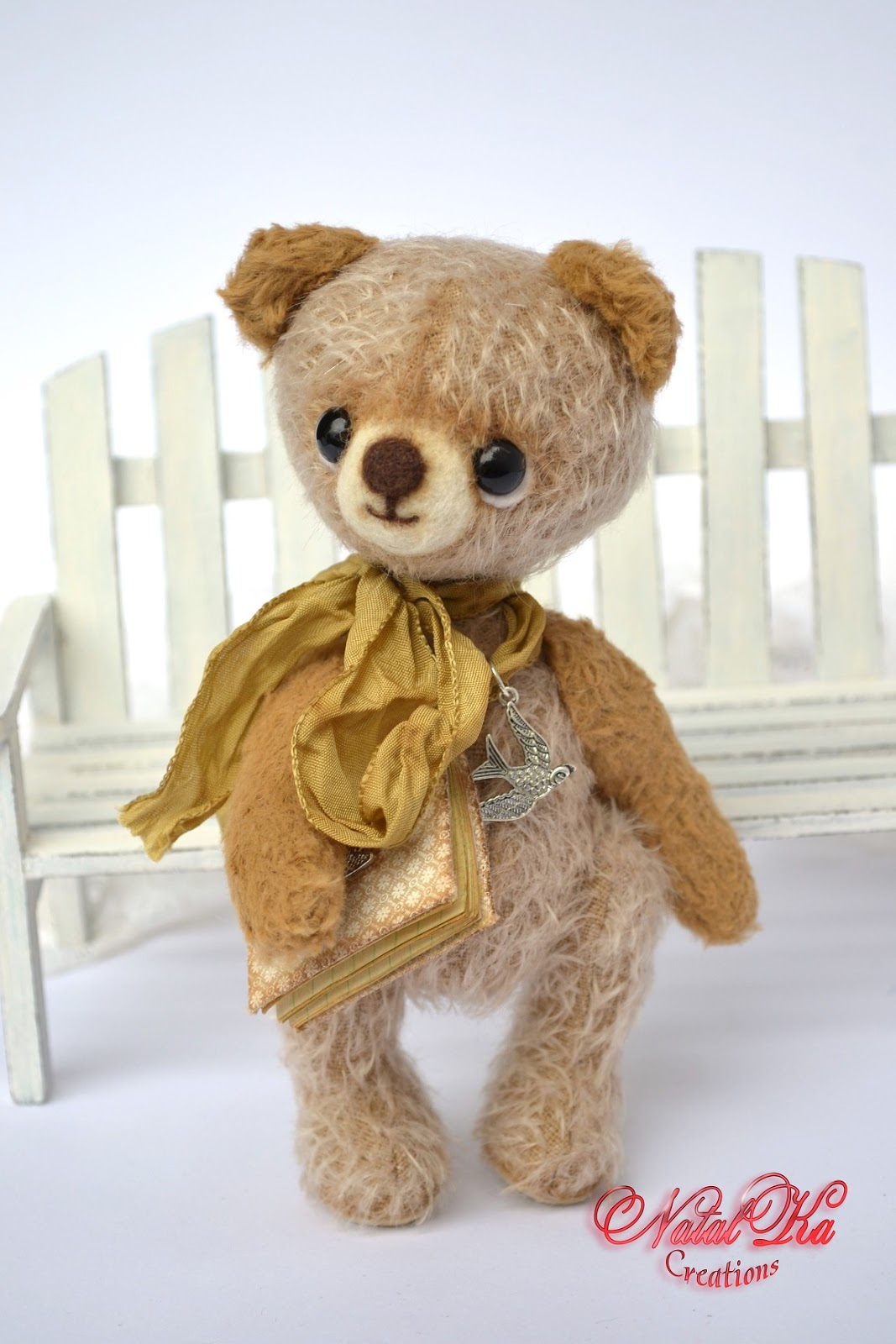 Künstlerbär Bär Teddybär Teddy handgemacht in vintage Look von NatalKa Creations. Авторский мишка тедди медведь медвежонок в винтажном стиле ручной работы от NatalKa Creations