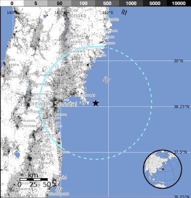 sísmo de 5,8 grados se registró en la costa oriental de Honshu, Japón, el Jueves, 25 de octubre 2012