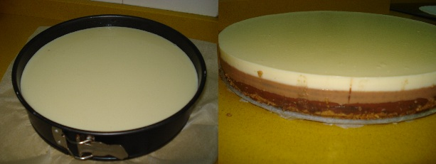 Tarta de tres chocolates 7