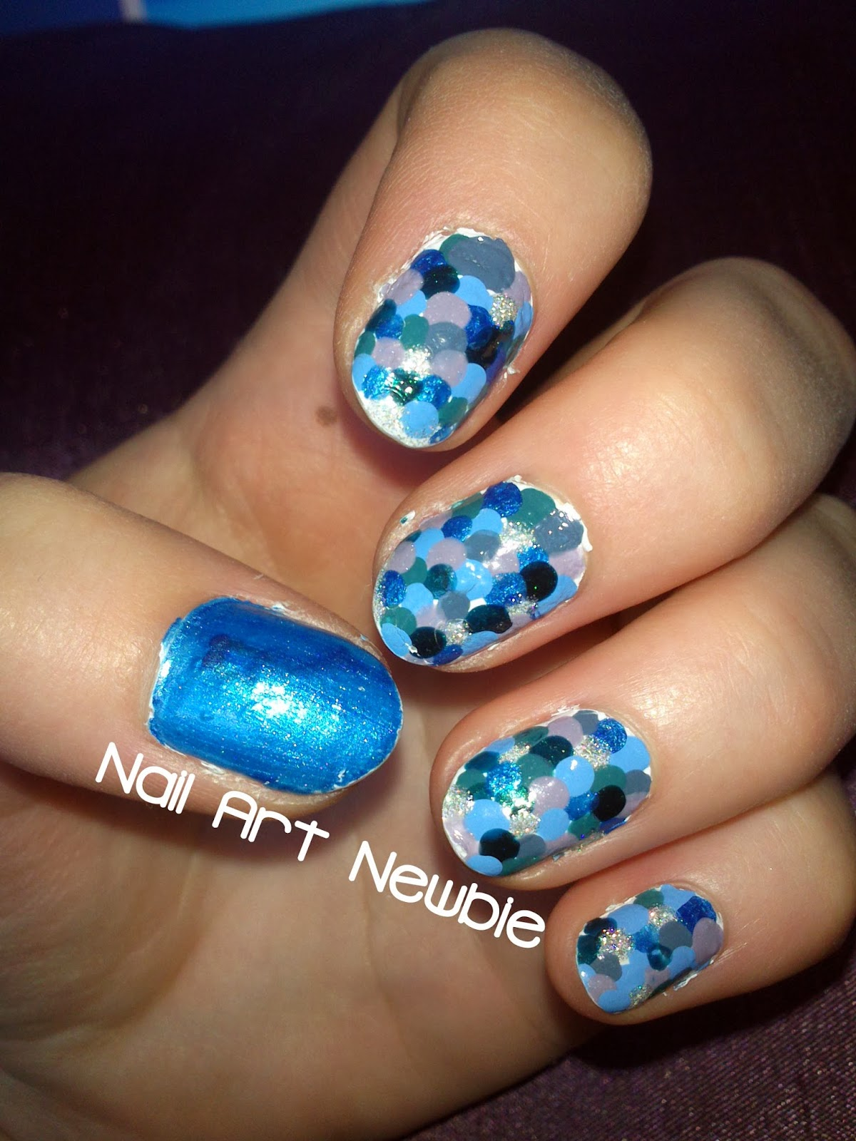 Nail Art Newbie Busy Girls Nails Challenge Week 4 Blue