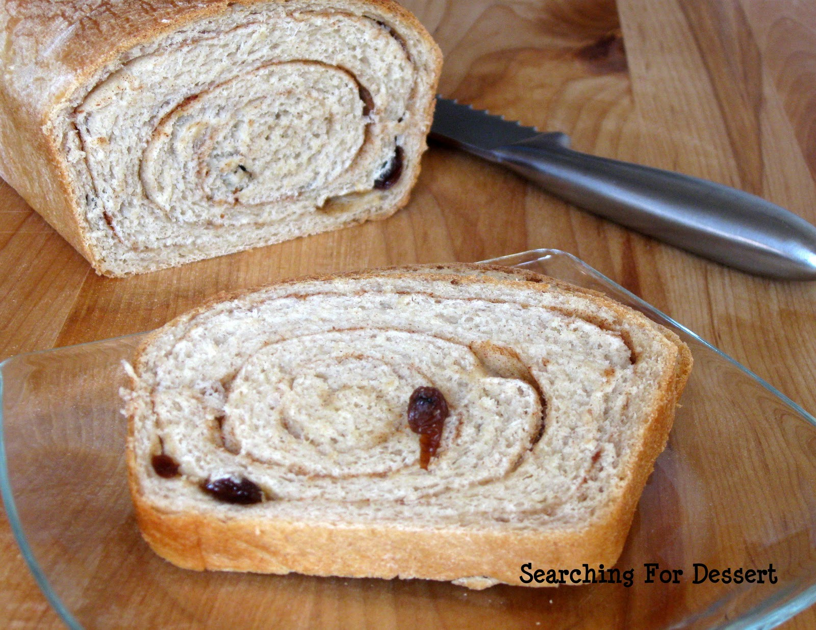 Cinnamon Raisin Swirl Bread | Searching for Dessert