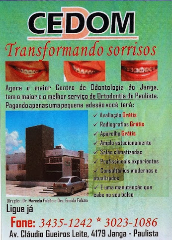 Dentista:  Dr. Marcelo Falcão