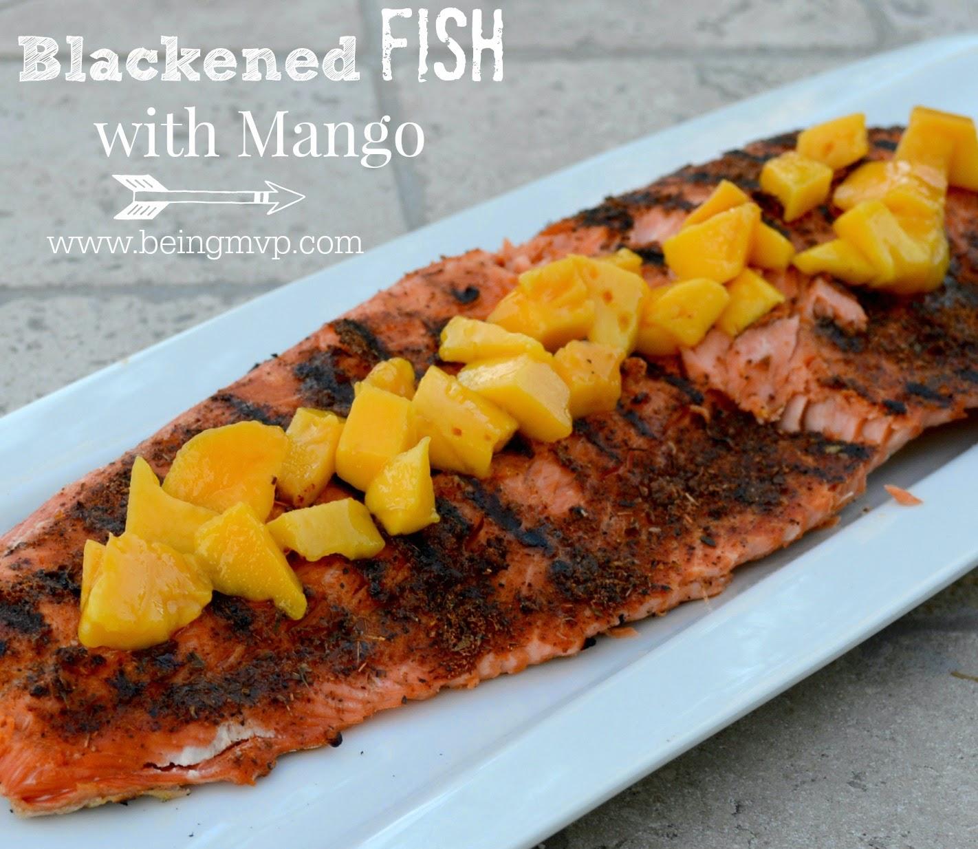 Being mvp blackened fish with mango recipe for Blackened fish recipe