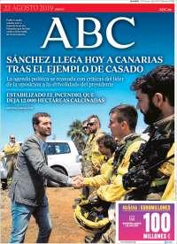 PRIMERA PAGINA ABC DE ESPAÑA