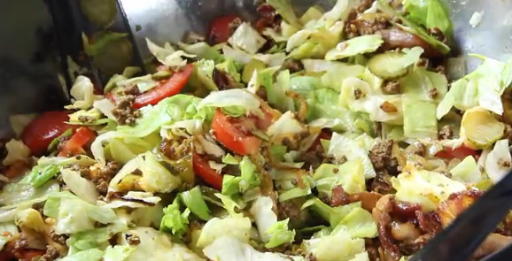 Big Mac Salat - Low Carb - Party Salat