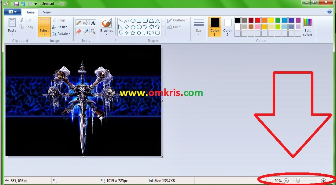 Cara Potong Foto/Gambar/Photo (Crop) di Paint Windows dan Ubah ukurannya Simpannya