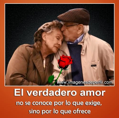El verdadero amor entre ancianos