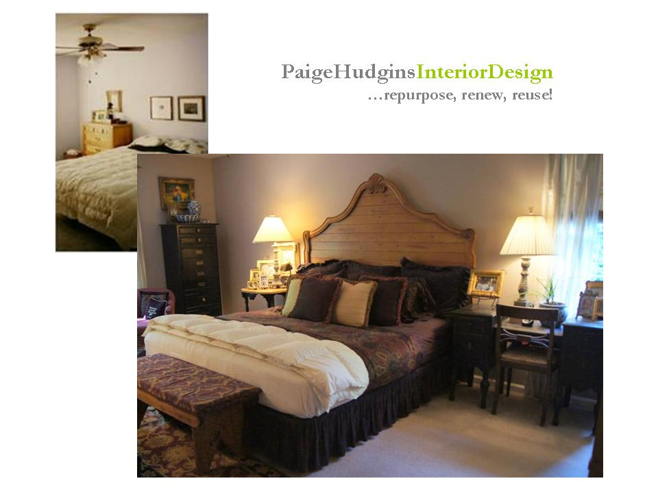 Paige Hudgins Interior Design Master Bedroom Before After Antique Headboard Nope Room To