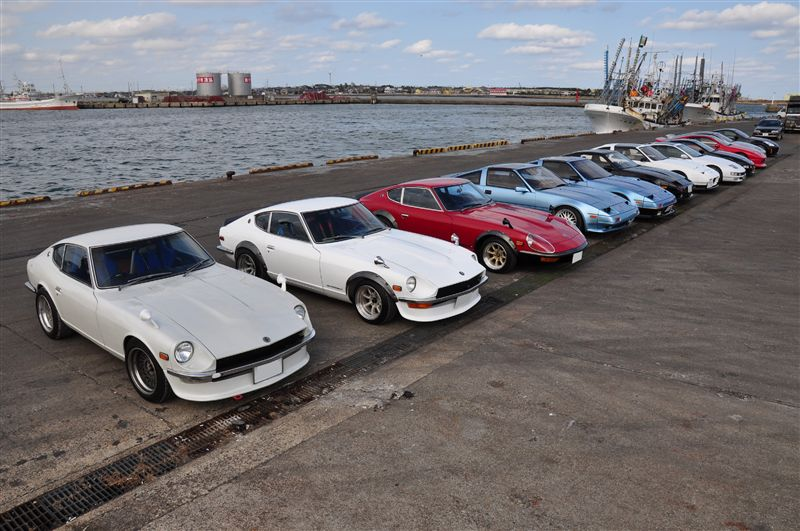Nissan Fairlady Z  stary japoński samochód, klasyk, oldschool, 日本車, クラシックカー