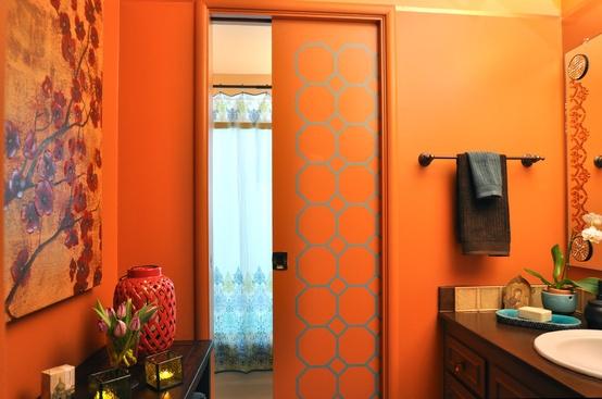 Cuarto de baño naranja y blanco: estupendas recámaras color ...