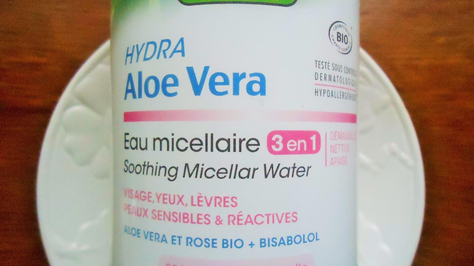 eau micéllaire à l'aloé vera so bio étic