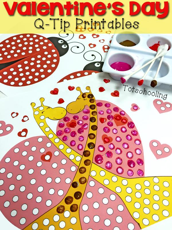 Valentine's Day Q-Tip Printables