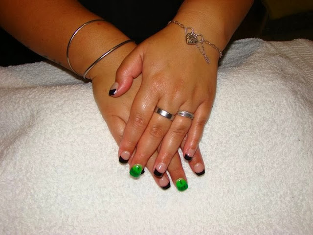 Classic-pink-white-acrylics-black-acrylics-with-neon-green-feats-with-musical-notes-on-the-French-and-clefs-LED-polish-manicure-in-abyss-black-with-holographic-silver-French-lengthy-consultation-finally-settled-on-a-classic-set-of-Pink-White-acrylics-gel-polish-so-over-the-top-of-the-French-white-gel-backfill-but-this-time-I-colored-filled-in-baby-pastel-pink-Pedicure-Gel-Nails-Polish-Manicure-LED-Nails-Acrylic-Nails-Nail-Art